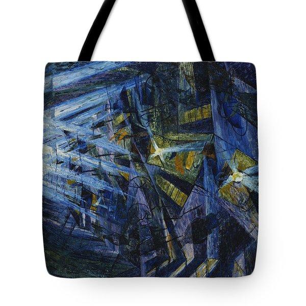 Le Forze Di Una Strada Tote Bag by Umberto Boccioni