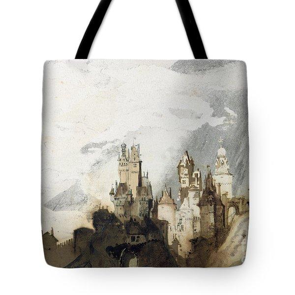 Le Gai Chateau Tote Bag