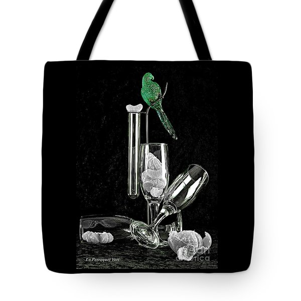 Le Perroquet Vert Tote Bag by Elf Evans