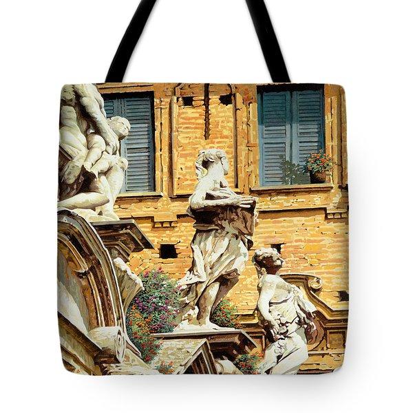 Le Statue Tote Bag by Guido Borelli