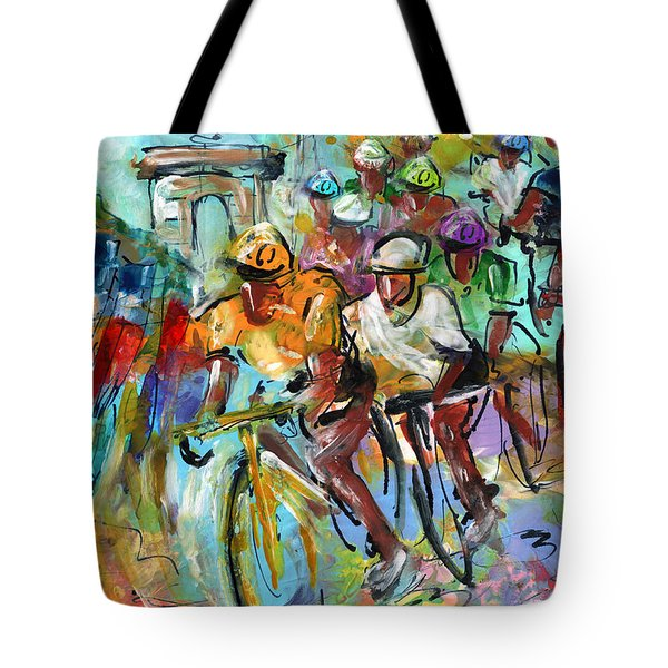 Le Tour De France Madness 02 Tote Bag