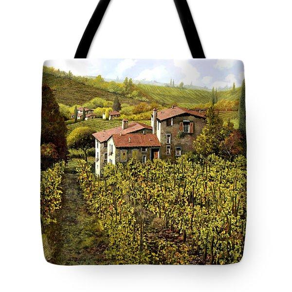 Le Vigne Toscane Tote Bag by Guido Borelli