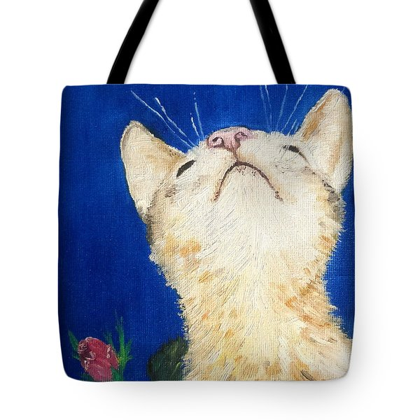 Tote Bag featuring the painting Lea And The Bee by Reina Resto
