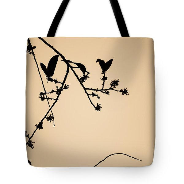 Leaf Birds Tote Bag