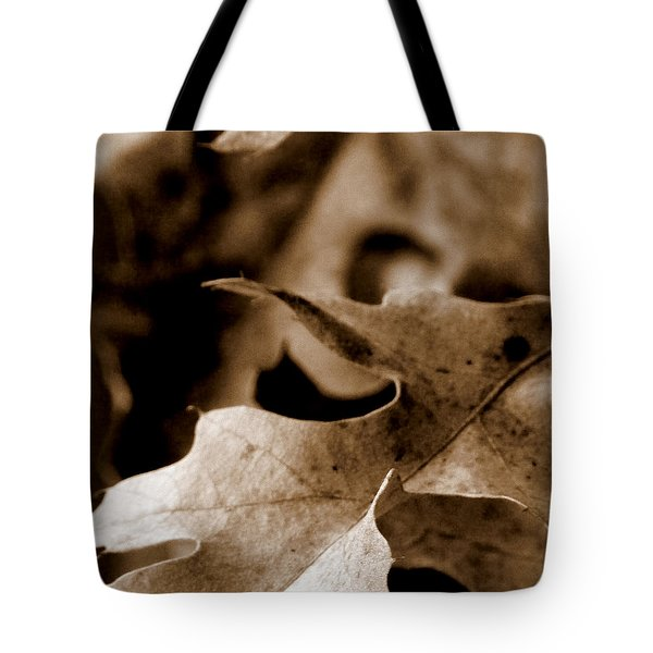 Tote Bag featuring the photograph Leaf Collage 4 by Lauren Radke