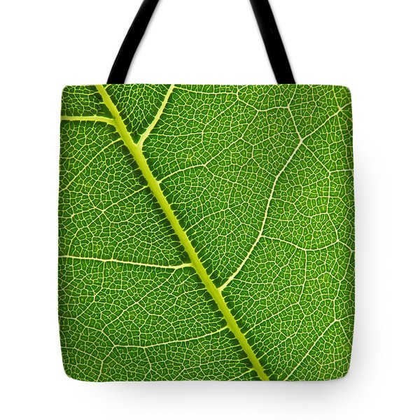 Tote Bag featuring the photograph Leaf Detail by Carsten Reisinger
