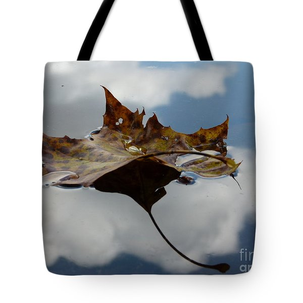 Leaf In Sky Tote Bag