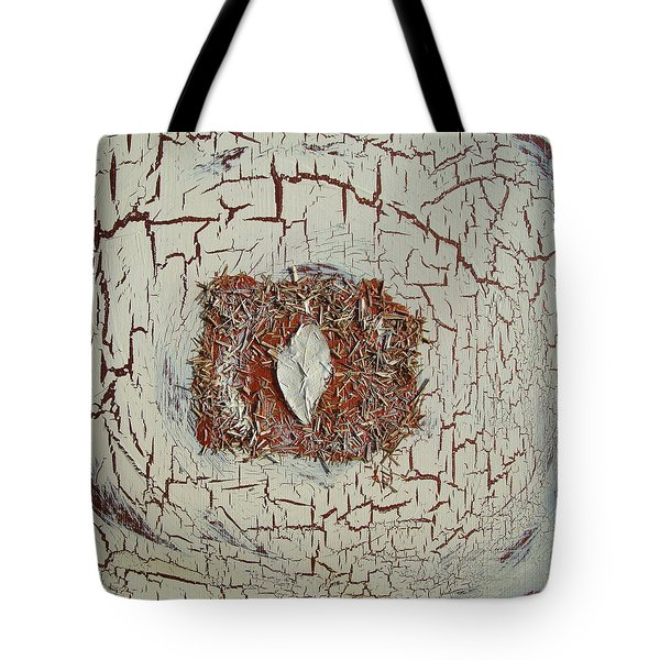 Leaf In Winter Tote Bag