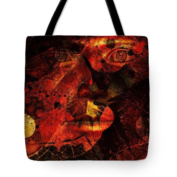 Leaf Man Tote Bag by Elizabeth McTaggart