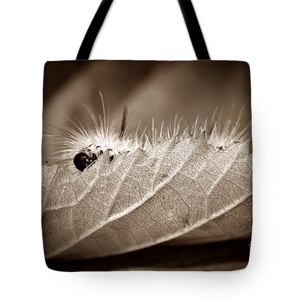 Leaf Muncher Tote Bag by Luke Moore