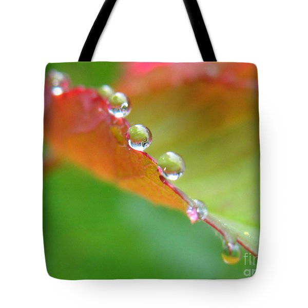 Leaf Pearls Tote Bag by Patti Whitten