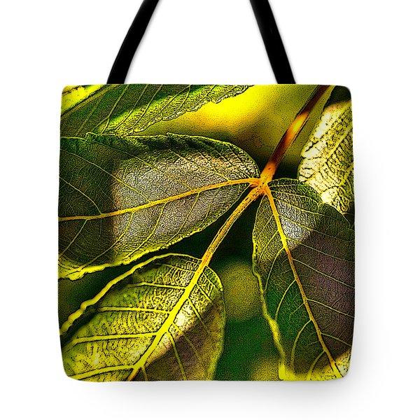 Leaf Texture Tote Bag