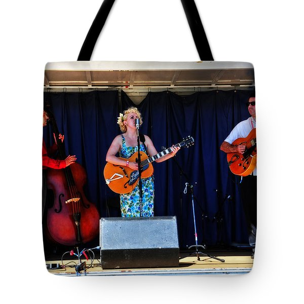 Leah And Her J Walkers Tote Bag by Mike Martin