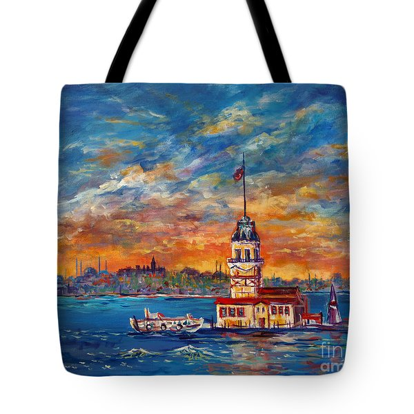 Leanders Tower  Istanbul Tote Bag