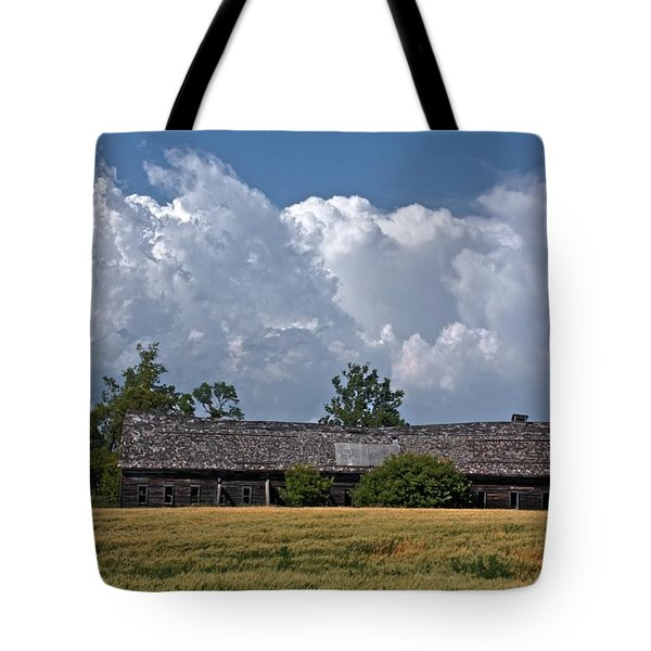Leaning Barn Tote Bag