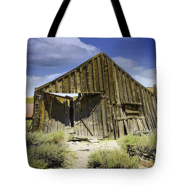 Leaning Barn Of Bodie California Tote Bag by LeeAnn McLaneGoetz McLaneGoetzStudioLLCcom