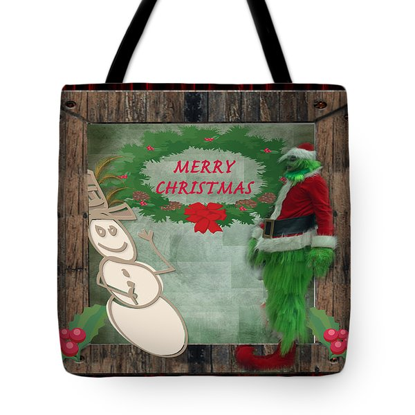Leaning Into Christmas Tote Bag