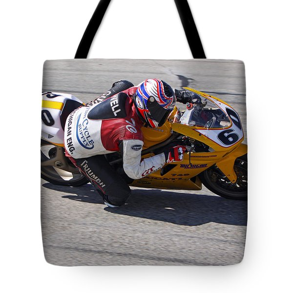 Tote Bag featuring the pyrography Leaning Into Speed by Shoal Hollingsworth