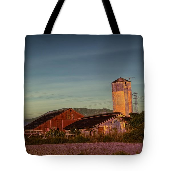 Leaning Silo  Tote Bag