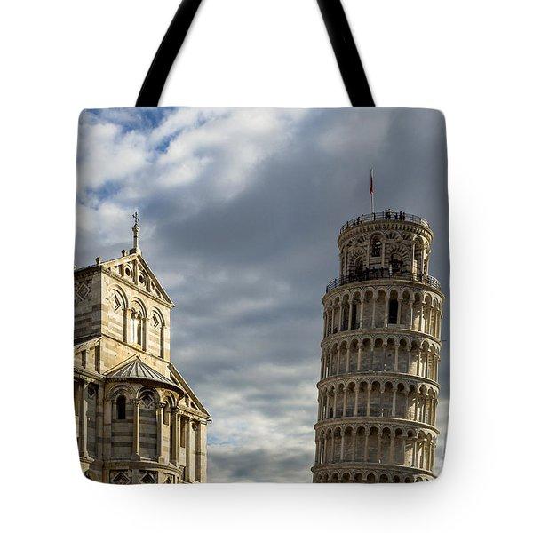 Leaning Tower And Duomo Di Pisa Tote Bag