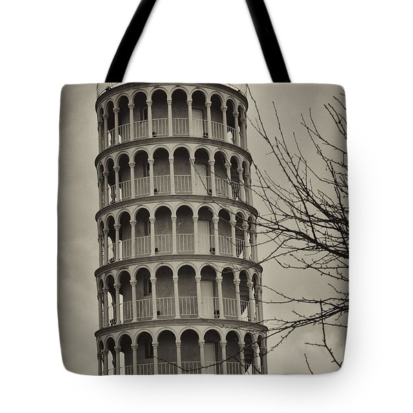 Tote Bag featuring the photograph Leaning Tower by Miguel Winterpacht