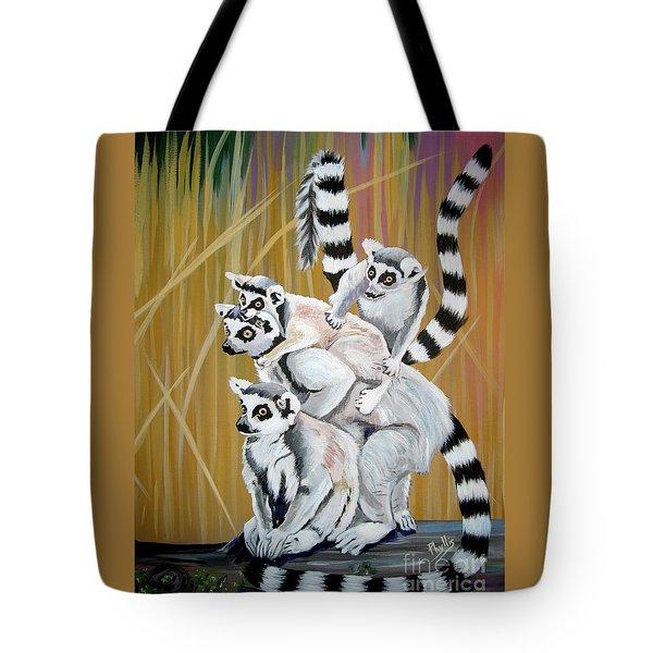 Leapin Lemurs Tote Bag