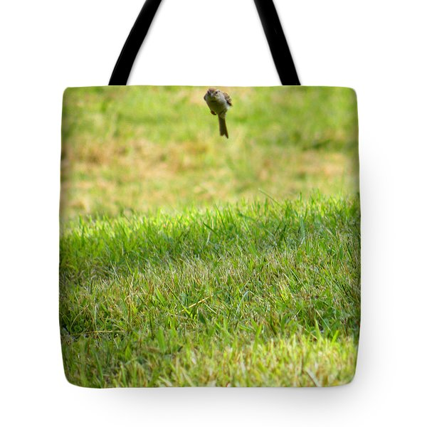 Leaping Bird Tote Bag