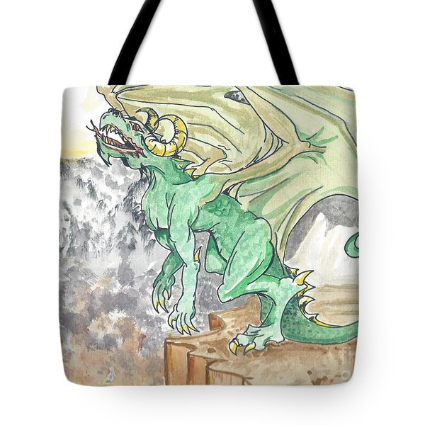 Leaping Dragon Tote Bag