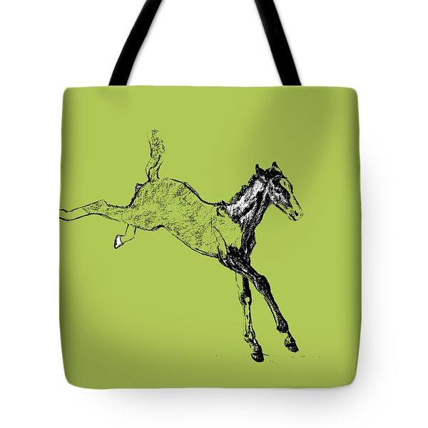 Leaping Foal 6554 Tote Bag