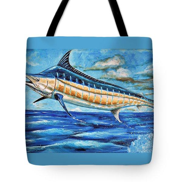 Leaping Marlin Tote Bag