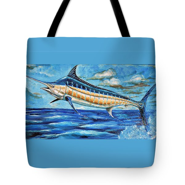 Leaping Marlin Tote Bag