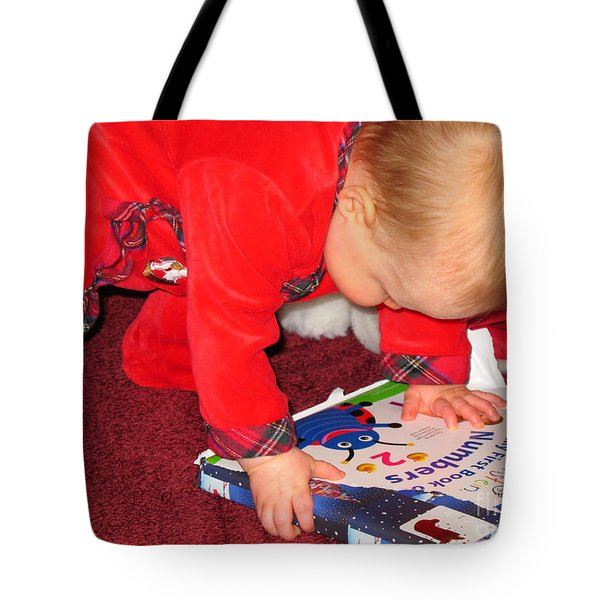 Learning To Read Tote Bag by Connie Fox