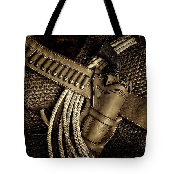 Leather And Lead Tote Bag
