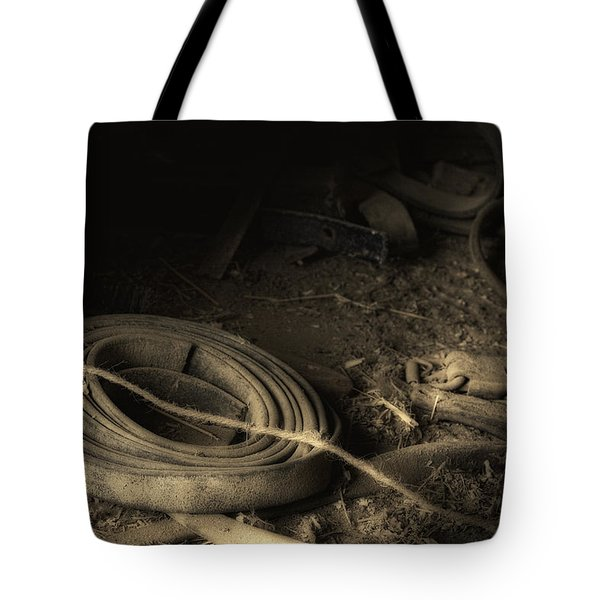 Leather Strap Still Life Tote Bag