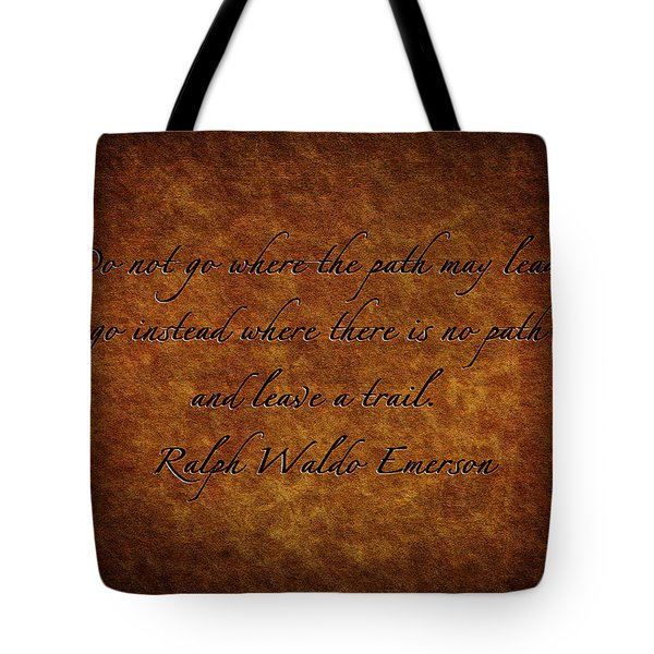Leave A Trail Tote Bag