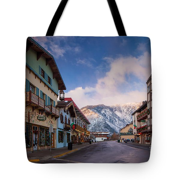 Leavenworth Winter Street Tote Bag