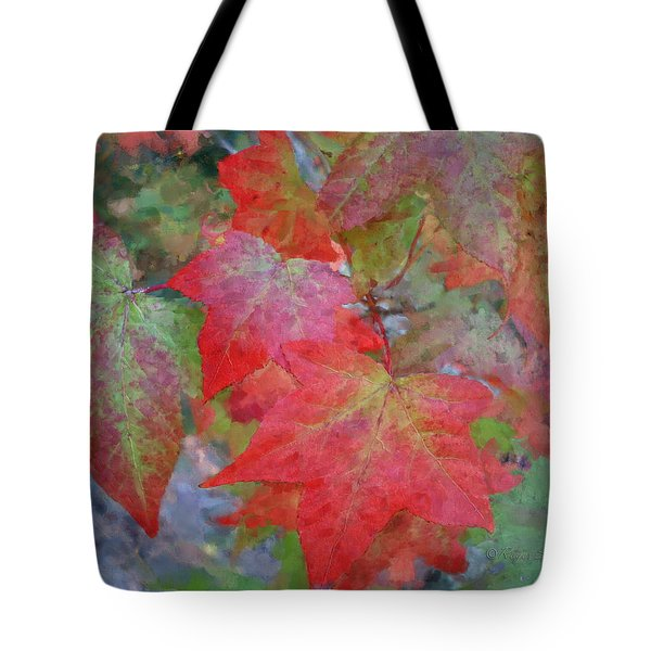 Leaves 2 Tote Bag