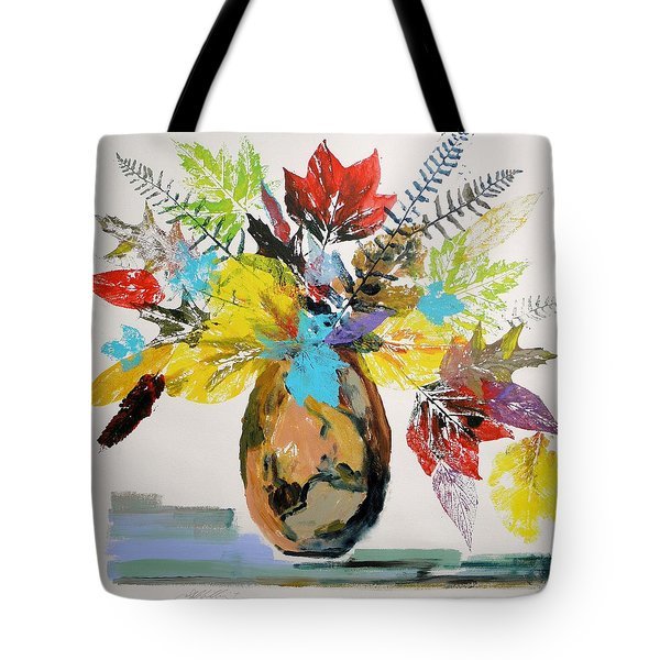 Leaves And Fronds Tote Bag