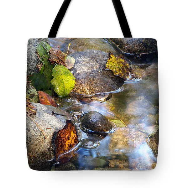 Leaves And Needles Tote Bag by Sharon Talson