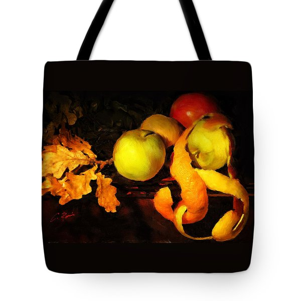 Leaves Fruits And Peels Tote Bag