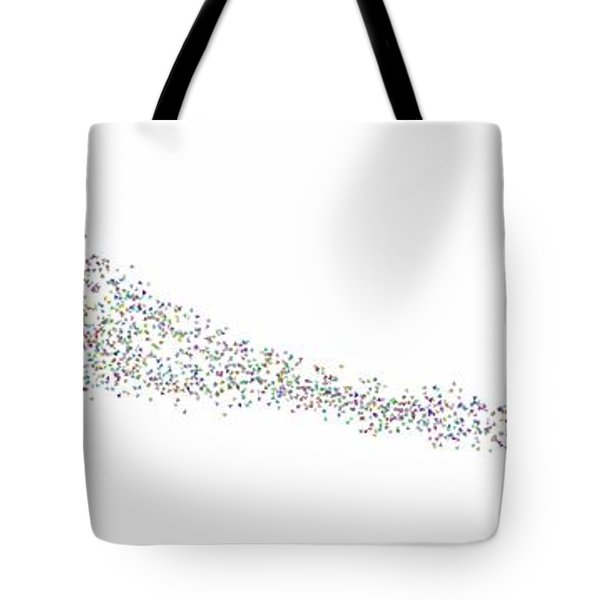 Tote Bag featuring the digital art Leaves In The Wind... by Tim Fillingim