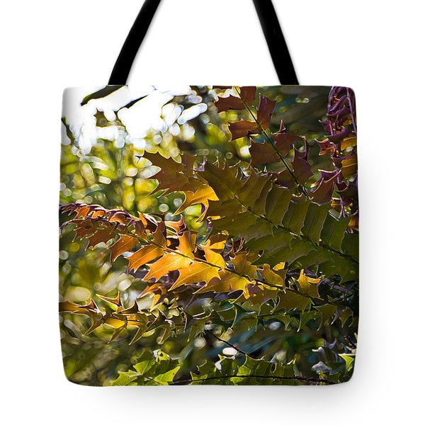 Leaves Tote Bag by Kate Brown