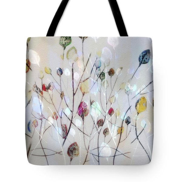 Leaves Of Color Tote Bag by Nina Bradica