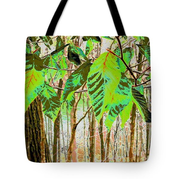 Leaves Tote Bag by Sally Simon