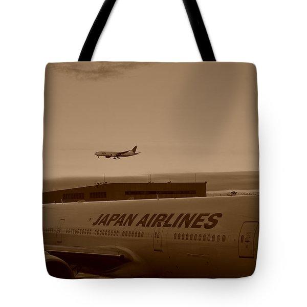 Leaving Japan Tote Bag