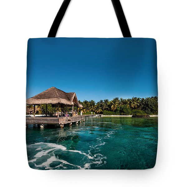Leaving Kuramathi Resort. Maldives Tote Bag by Jenny Rainbow