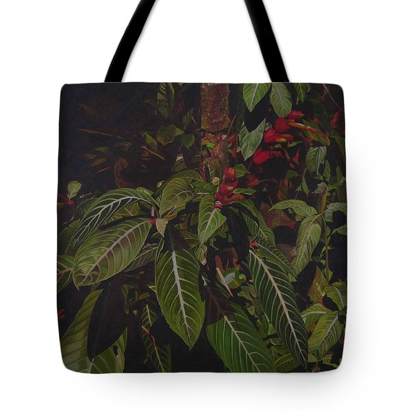 Tote Bag featuring the painting Leaving Monroe by Thu Nguyen