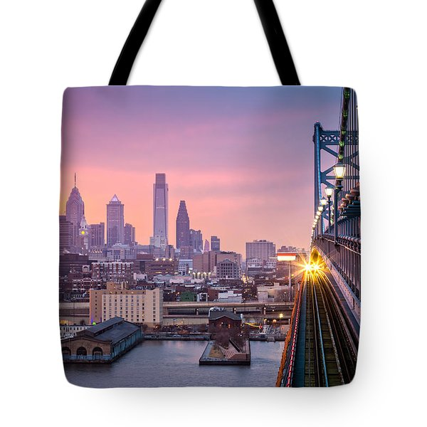 Tote Bag featuring the photograph Leaving Philadelphia by Mihai Andritoiu