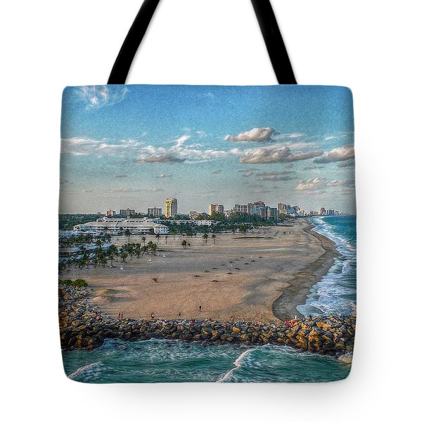 Leaving Port Everglades Tote Bag by Hanny Heim