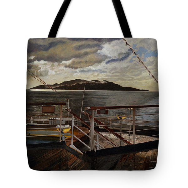 Leaving Queen Charlotte Sound Tote Bag by Thu Nguyen